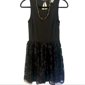 Gorgeous Sequinned Mini Black Party Dress with Full Skirt - New Years Holiday